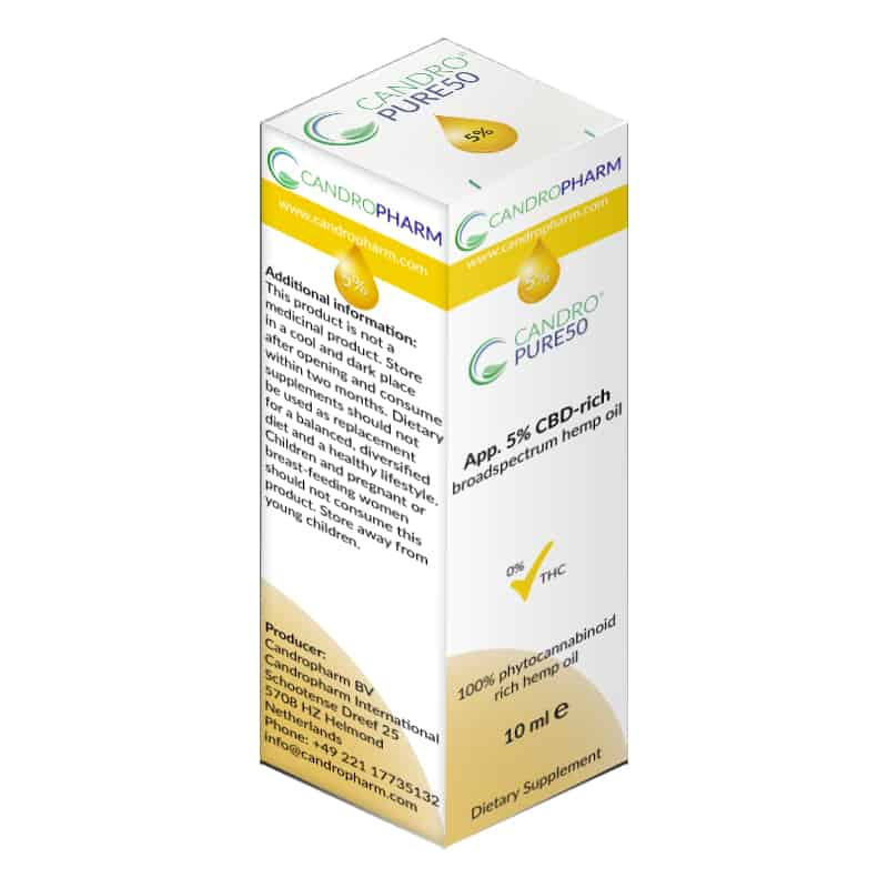 Candropharm Candropure50 5% CBD oil