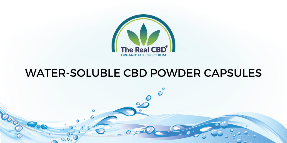 The Real CBD 7.5mg CBD capsules with water-soluble powder