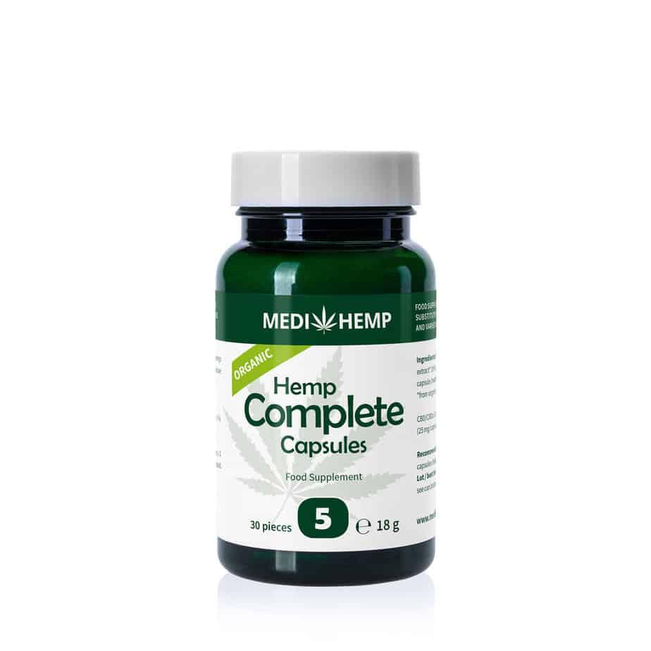 Medihemp Organic Hemp Complete 5% CBD Capsules
