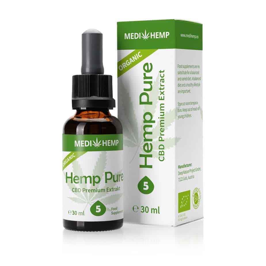 Medihemp Organic Hemp Pure 5% CBD oil